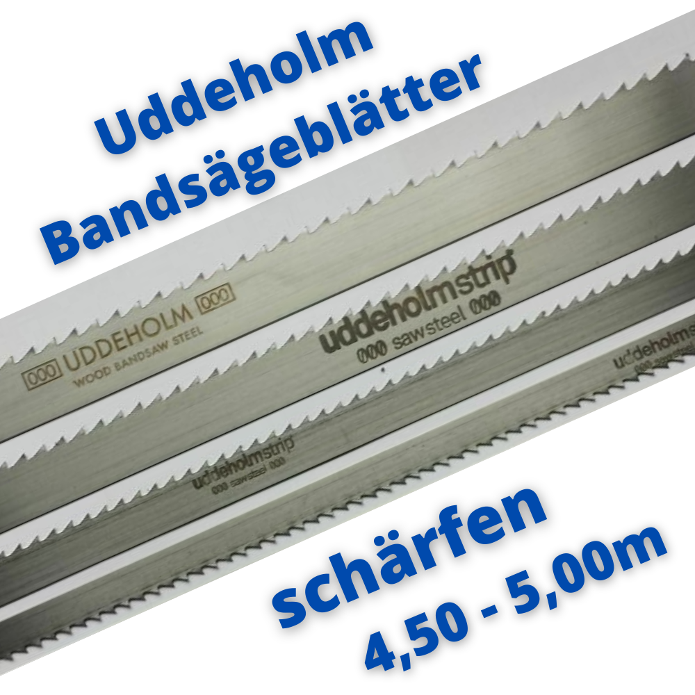 Uddeholm Schwedenstahl Bandsägeblatt schärfen 4,50m - 5,00m ab 10mm