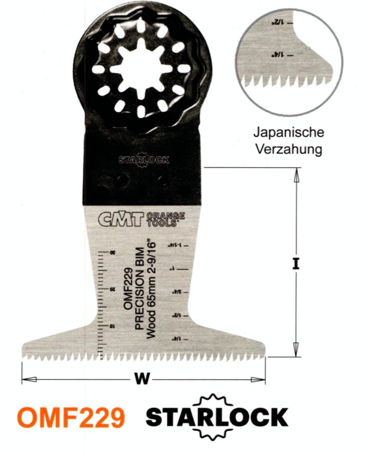 CMT 65 mm Präzisions-Sägeblatt OMF229
