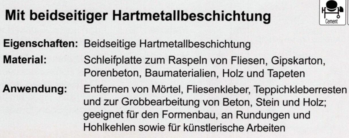CMT 45 mm Raspel Hartmetall OMF002