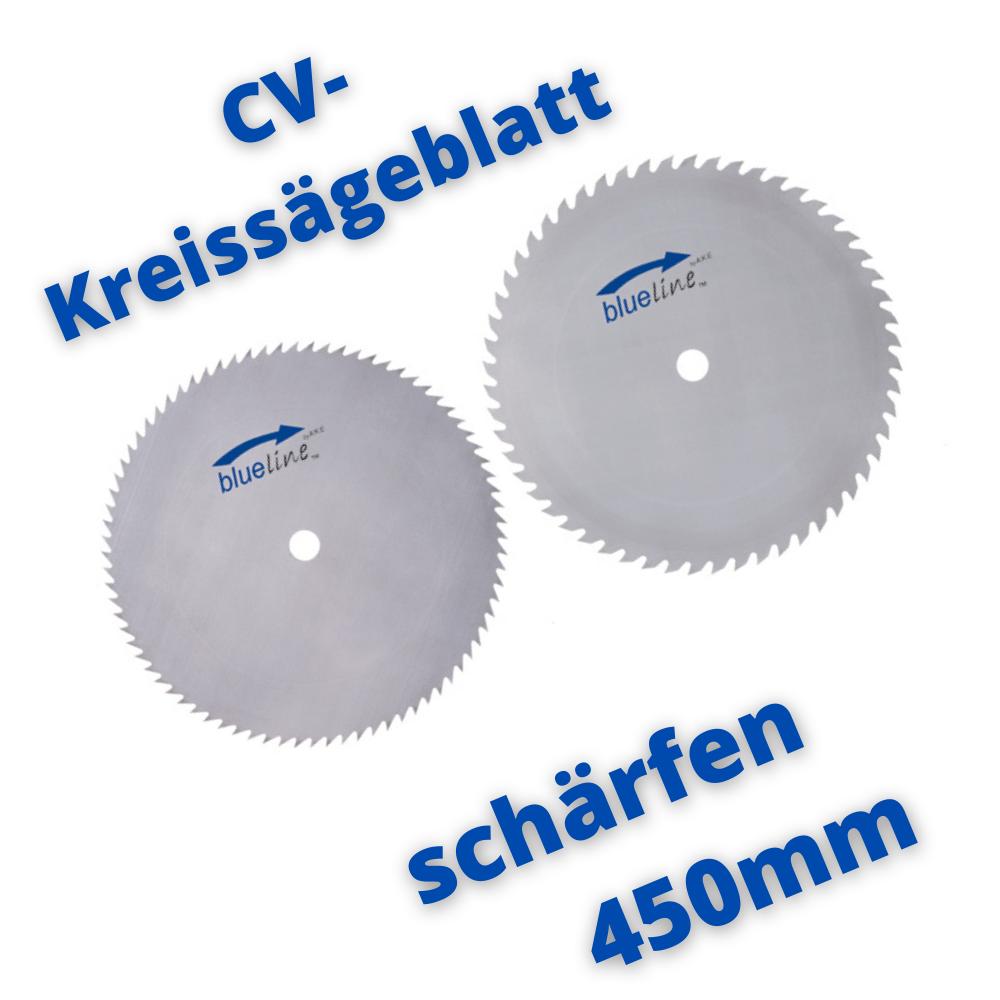 CV-Kreissägeblatt schärfen 450mm