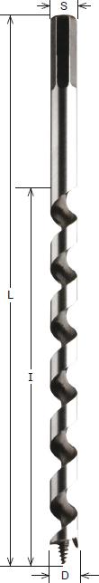 HS-Schlangenbohrer CMT Ø6-20mm L230-460mm