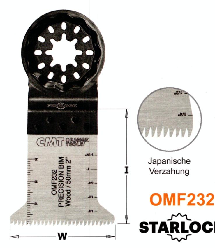 CMT 45 mm Präzisions-Sägeblatt OMF232