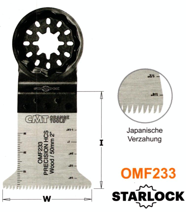 CMT 45 mm Präzisions-Sägeblatt OMF233