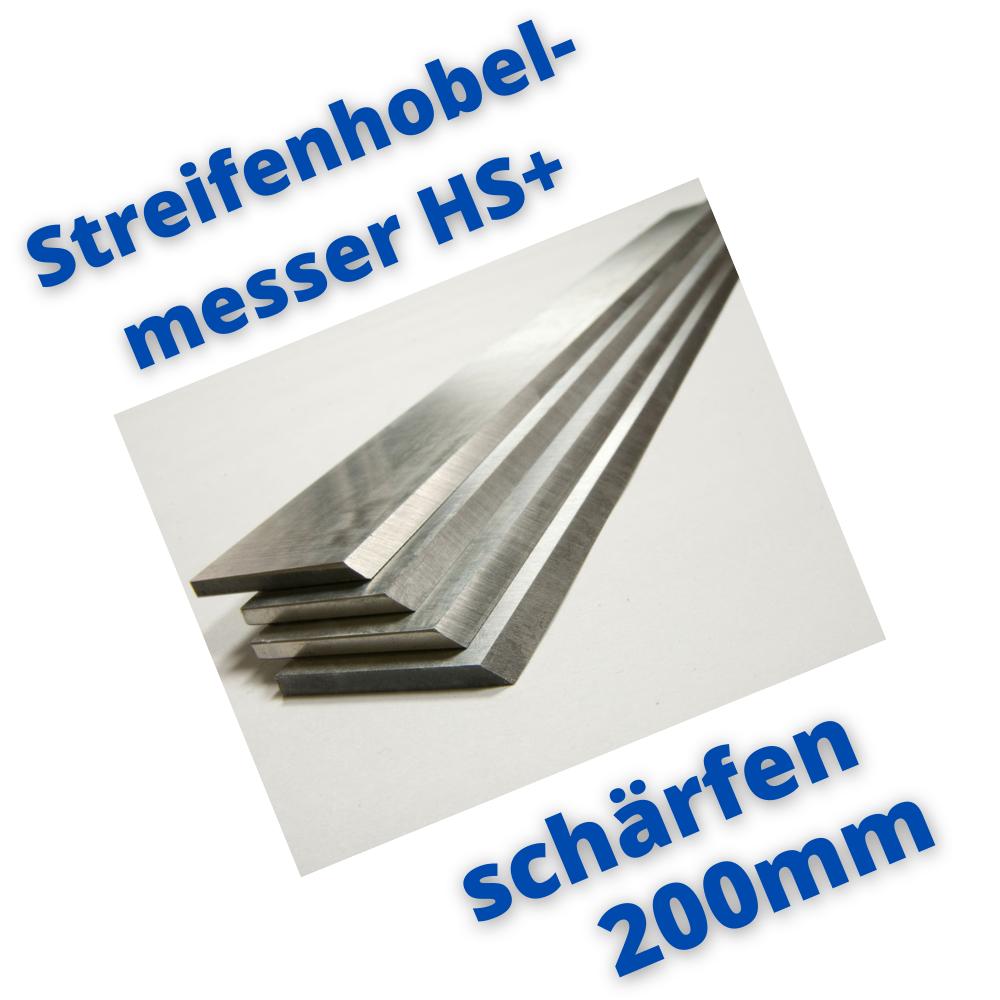 Hobelmesser 200mm schärfen