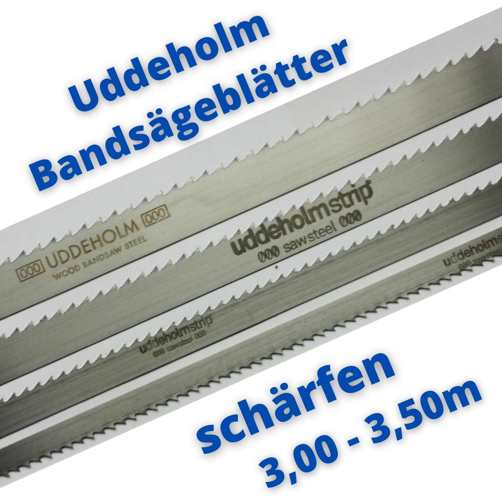 Uddeholm Schwedenstahl Bandsägeblatt schärfen 3,00m  - 3,50m ab 10mm Breite