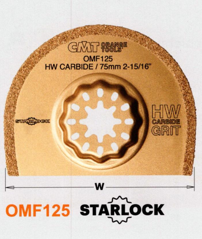 CMT 75 mm Segmentsägeblatt Hartmetall OMF125