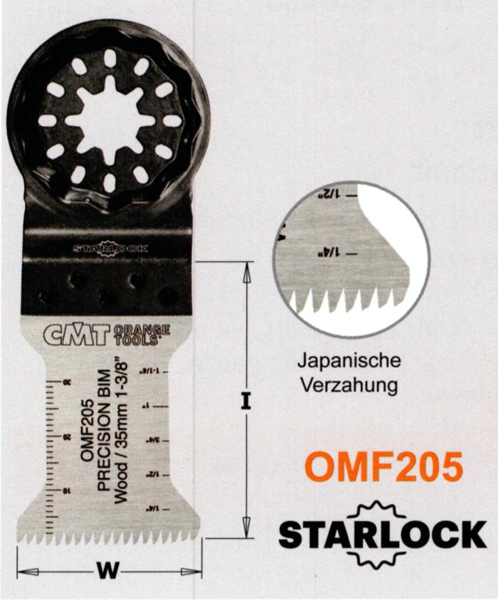 CMT 35 mm Präzisions-Sägeblatt OMF205