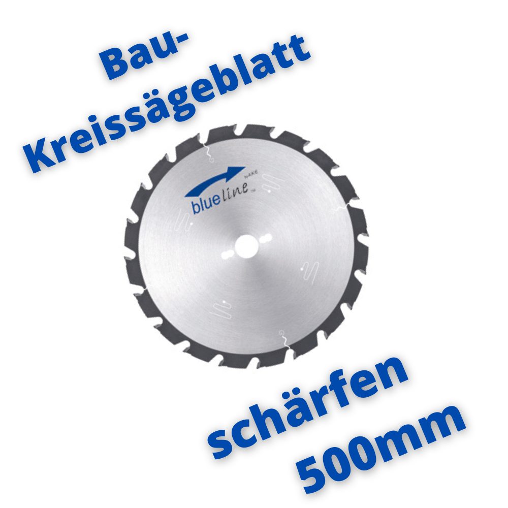 Baukreissägeblatt schärfen 500mm