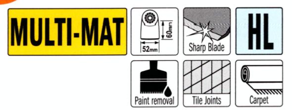 CMT 52 mm Schaber steif OMF226