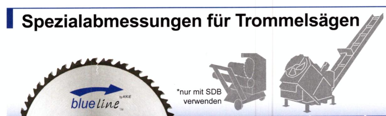 Spezialabmessungen AKE Blueline Zuschnittkreissägeblatt ∅700-750