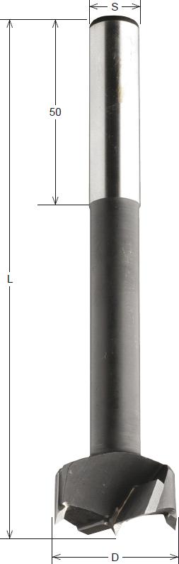 CMT HW-Kunstbohrer, lange Ausführung